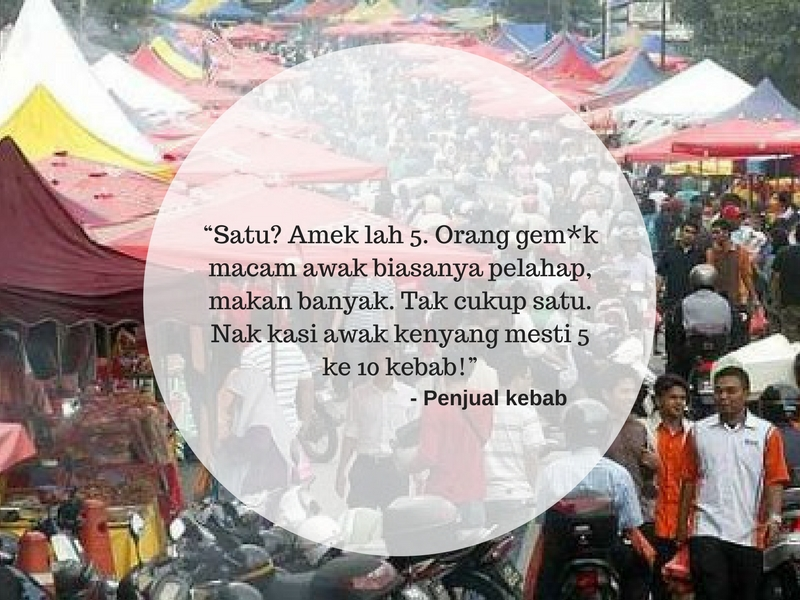 Mulut Lahar Peniaga Bazar Buat Netizen Marah!