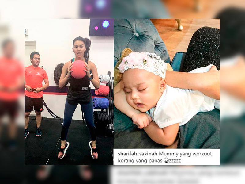 'Mommy Yang Workout Korang Yang Panas'