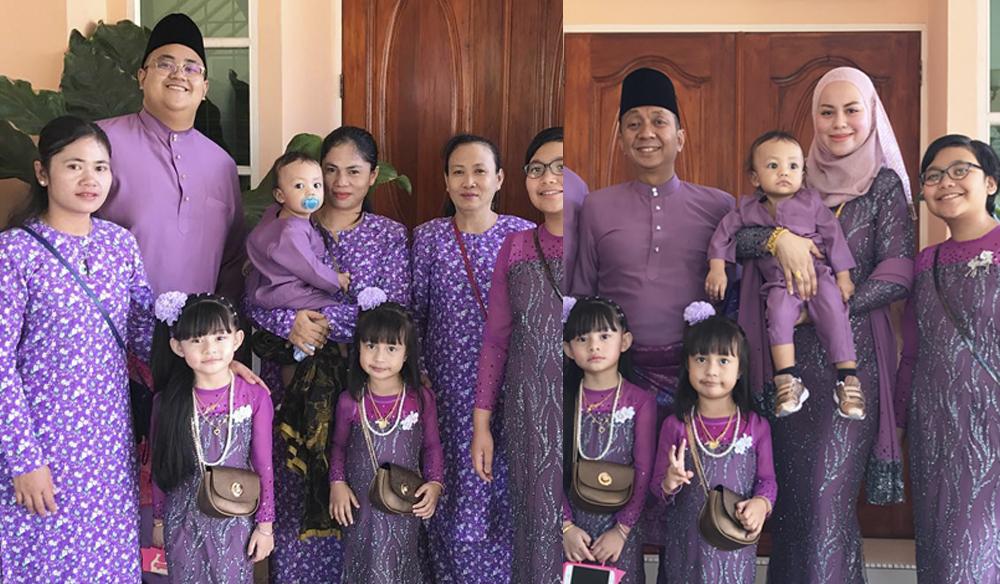 Rebecca Nur Al Islam Berbaju Sedondon Dengan Pembantu Rumah