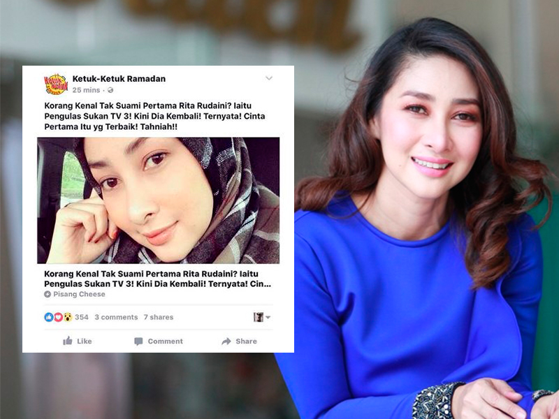 Imej, Maruah Tercalar; Rita Rudaini Tuntut Permohonan Maaf