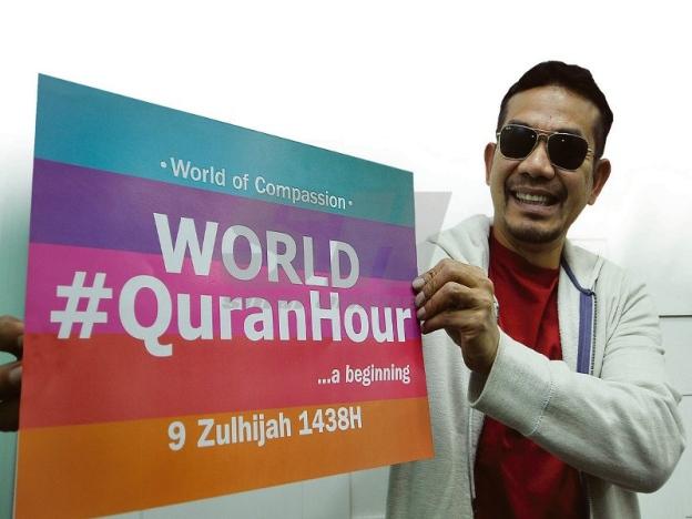 Sempena World Quran Hour, Rosyam Nor Panjat Menara KL