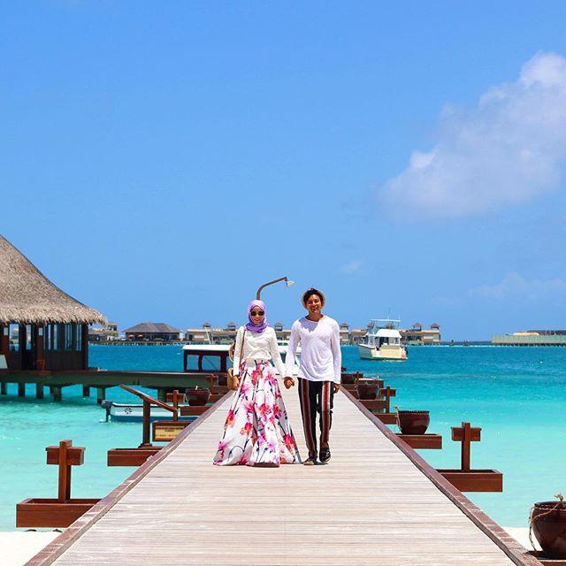 Nazim Othman dan Bella Dally Pula Ke Maldives, Tinggal Di Villa RM10k