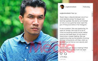 Isu Seniman: Ungku Ismail Sokong Tiz Zaqyah