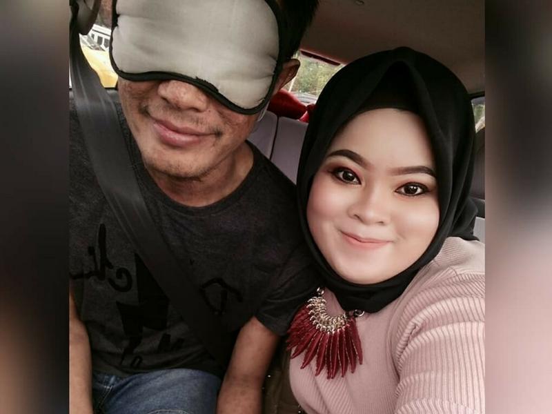 'Orang Tanya Kenapa Tutup Muka Suami' Wanita Tabah Jawab Persoalan Netizen