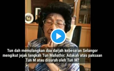 'Kalau Suami Saya Dah Terasa, Saya Sebagai Isteri Patut Menyokong Hasratnya' Video Tun Siti Hasmah Buat Netizen Tersentuh