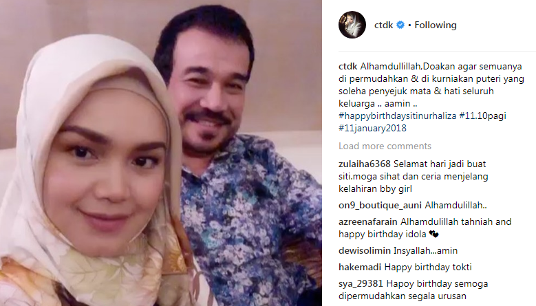 [Tahniah] Sempena Birthday ke-39, Siti Umum Bakal Dapat Baby Girl!