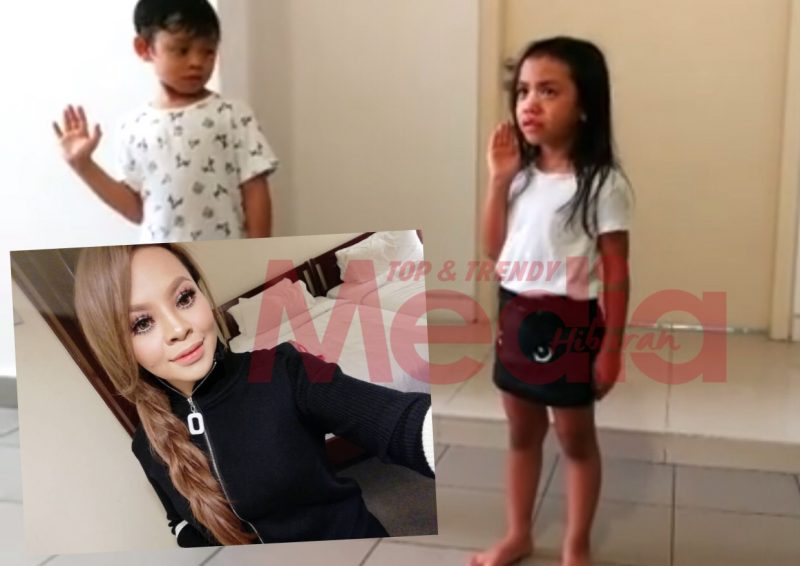 Kagum Tengok Siti Sarah Didik Anak Sambil Pegang Rotan