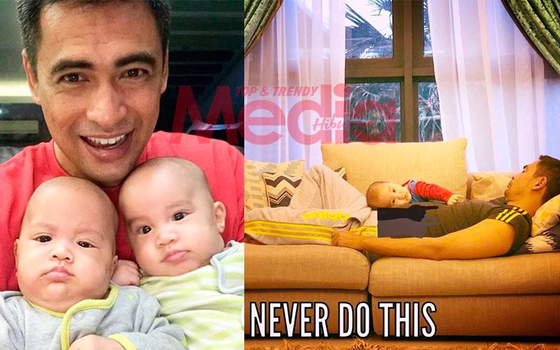 'Never Do This' – Sheikh Muszaphar Kongsi Momen Tertidur Jaga Anak