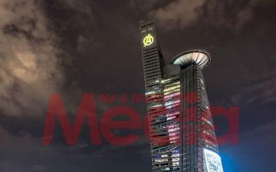 Pergh! Bila Menara TM Jadi Stark Tower, Siap Ada Logo Avenger