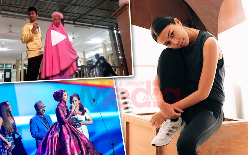 [VIDEO] 'Siapa Kecam Neelofa, Lidya Pukul Nanti' – Sharifah Sakinah Tiru Aksi Neelofa