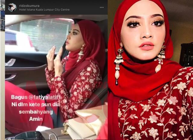 Fathia Latiff Jawab Isu Videonya Sedang Tunaikan Solat Dalam Kereta!