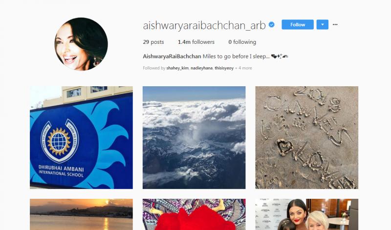 Tak Sampai Seminggu Buka Akaun Instagram, Aishwarya Rai Dah Kumpul Hampir 1.5 Juta Pengikut!
