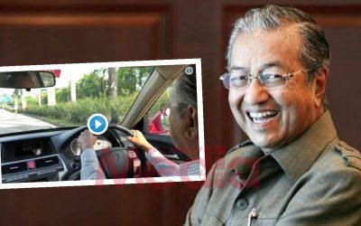 Pandu Kereta Sendiri Pantau Sekitar Kuala Lumpur, Netizen Terpegun Dengan Tenaga Tun M