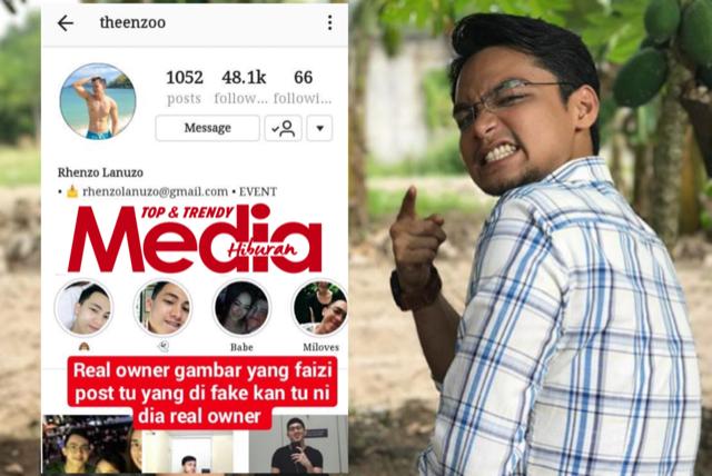 Akaun IG @faizikhairudin Didakwa Netizen Fake, Pakai Gambar Orang Filipina