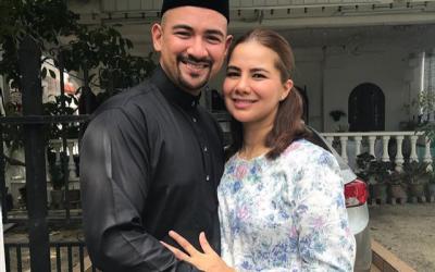 """""""Hari Raya Dari Kami Berduaa, Eh Bertigaaaa…"""" – Sharnaaz Ahmad Harap Isteri Selamat Lahirkan Anak September Depan"""