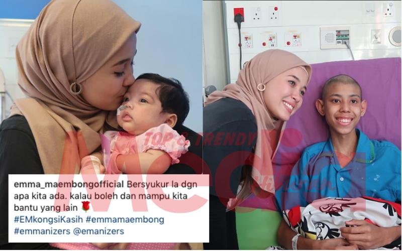 """""""Bersyukur La Dengan Apa Yang Kita Ada,"""" – Emma Maembong 'Kongsi Kasih' Dengan Siapa Tu?"""