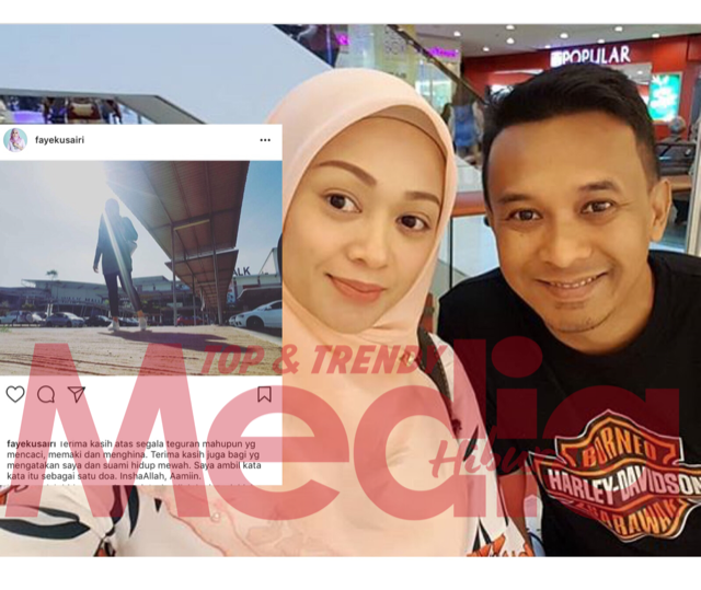 Faye Kusairi Tampil Pertahan Suami Terhadap Kata-Kata Pedas Elly Mazlein di IG?