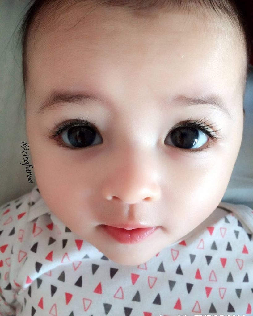 dhuhaa sophea bayi comel seperti anak patung - media hiburan