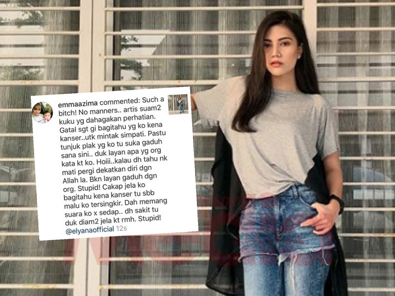 'Such A Bi**h! No Manners, Dah Tahu Nak Mati Pergi Dekatkan Diri Dengan Allah' Netizen Maki Elyana!