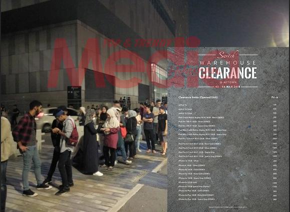 [Gambar] Gila Betul, Beratur Seawal 2 Pagi Gara-Gara Sale Jenama Apple!