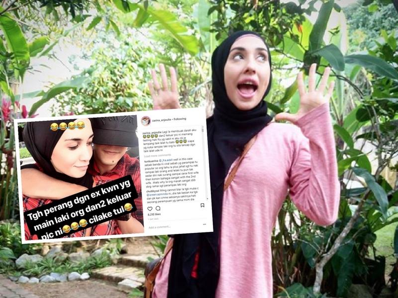 'Aku Rasa Nak Lempang Taik Lalat Tu!' Zarina Anjoulie Berang Tengok Gambar Mesra Izreen & Suami