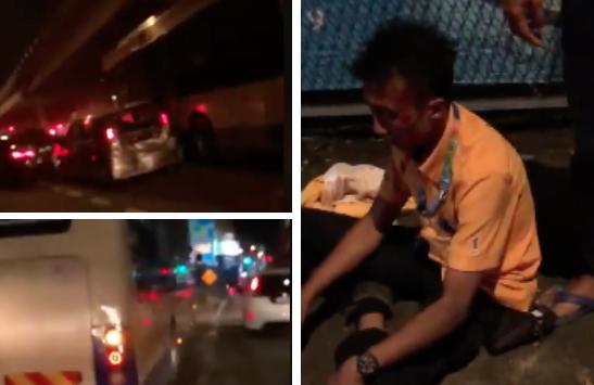 [VIDEO] Viral Rakaman Bas Dipandu Melulu, Didakwa Rempuh Gerai Burger & Puluhan Kereta