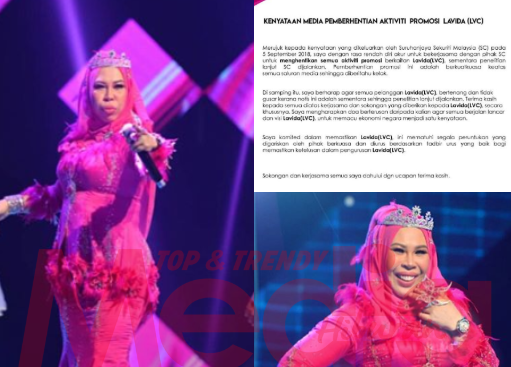 Datuk Seri Vida Akur, Aktiviti Promosi Lavida Coin Dihentikan Sementara